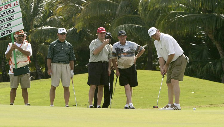 The 4-man scramble is a popular format for golf tournaments.