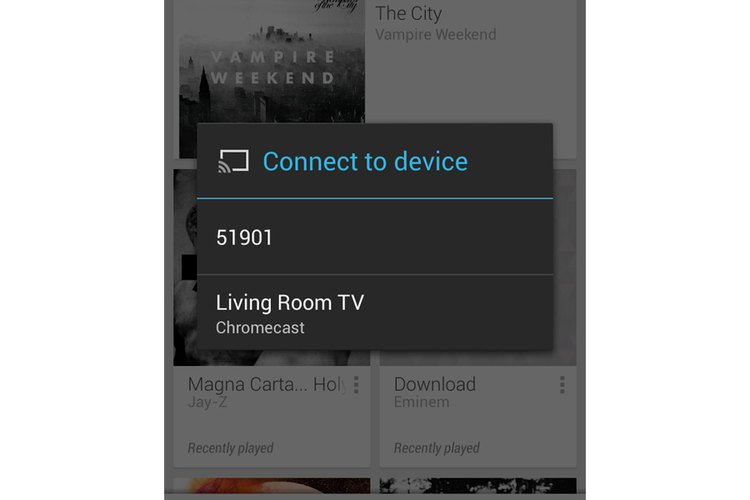 Play Music ofrece soporte para dispositivos Chromecast.