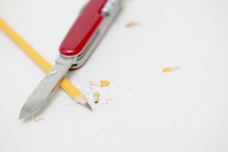 Keep your pocketknife sharp using a two-side whetstone.