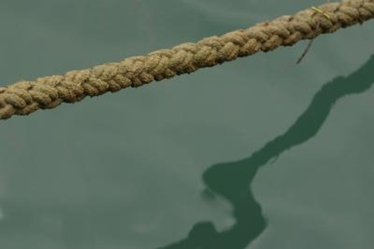 The double braided section of an eye spliced rope features a braid with pairs of cord.