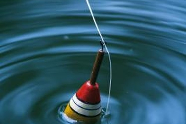 Bobbers help anglers determine when a fish bites.