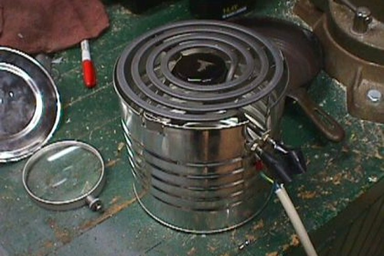 The coffee can stove is easy to make and effective.