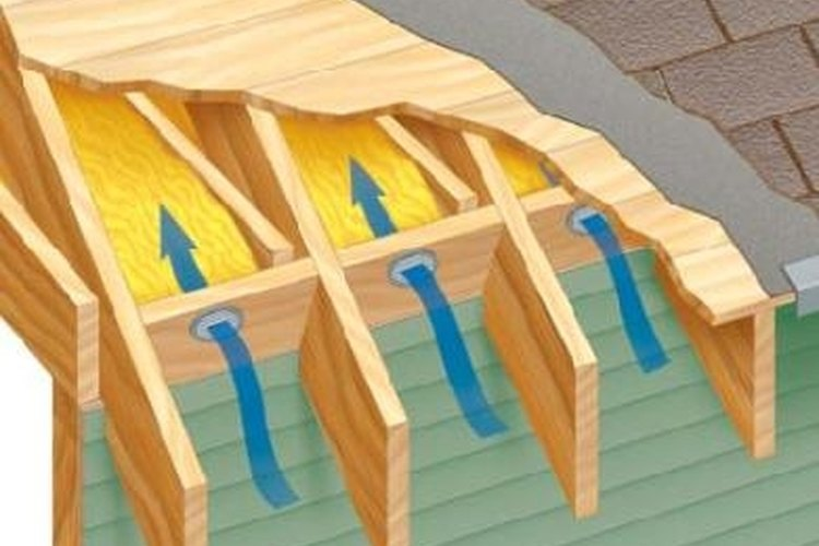 Venting the attic with no soffits