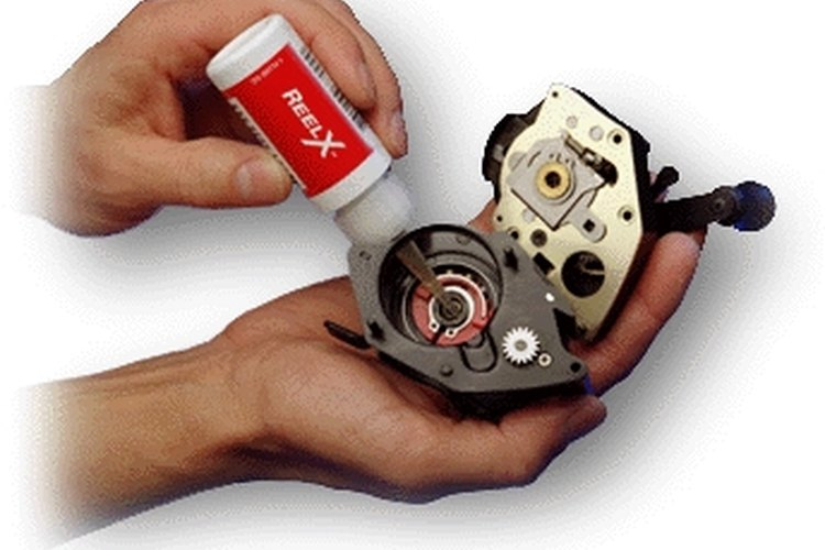 Lubricate your fishing reel to keep it running smoothly.