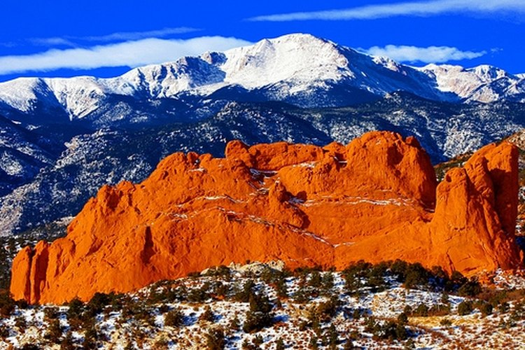 The snow-covered Rocky Mountains