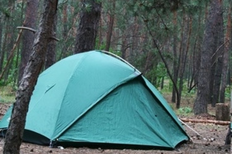 A tent heater can keep you warm during cold nights.