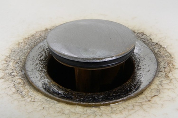 An RV sink can drain slowly when it's clogged.