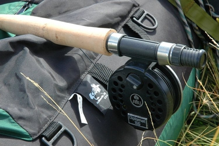 A rigged fly rod ready to go.