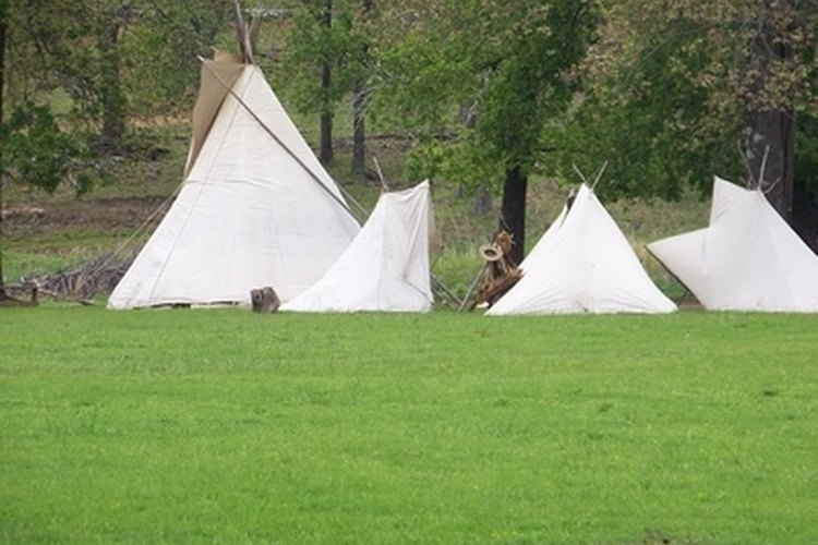 Living in a teepee is akin to living with nature.