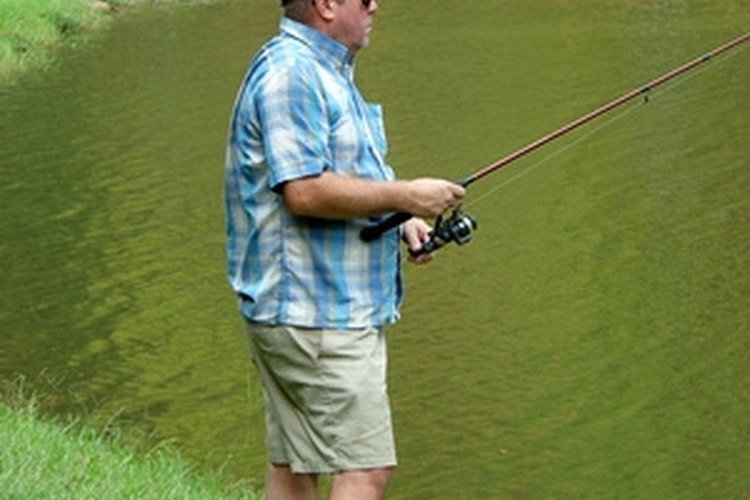 Fishing for crappie on a small pond.