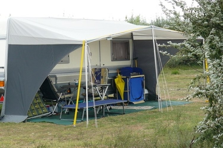 Tent trailer awnings make camping more comfortable.