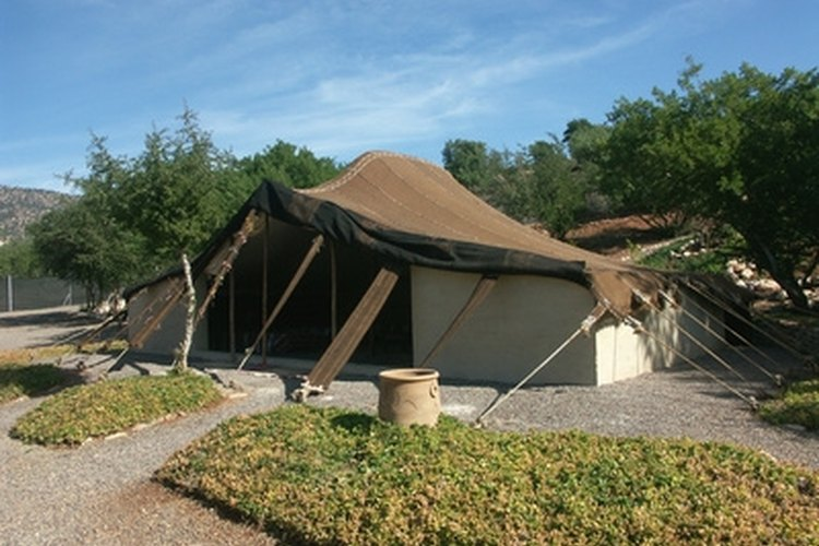 Large tent cabins can make family gatherings easier.