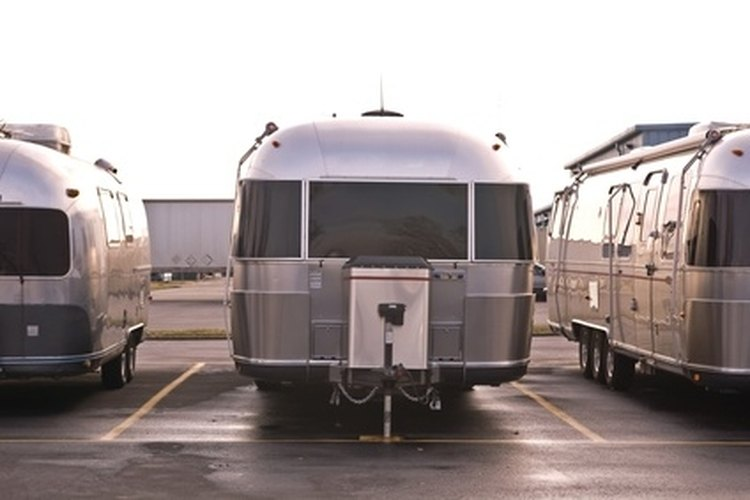 Airstream travel trailers have a rounded aluminum design.