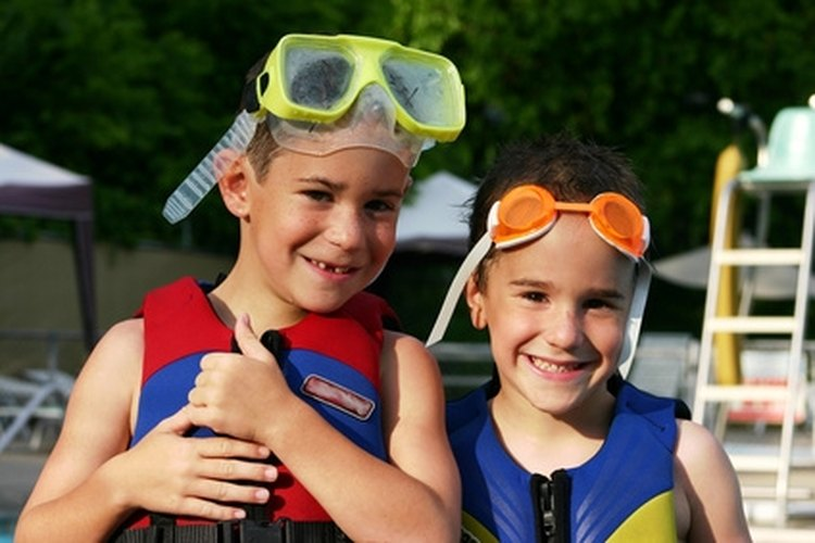 These life jackets are made of material which helps the wearer float.