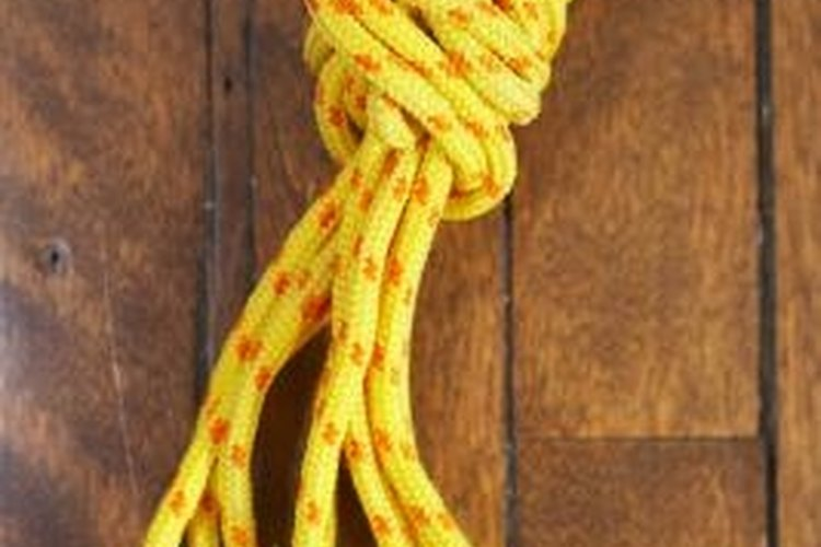 Nylon rope is strong and reliable for tying.