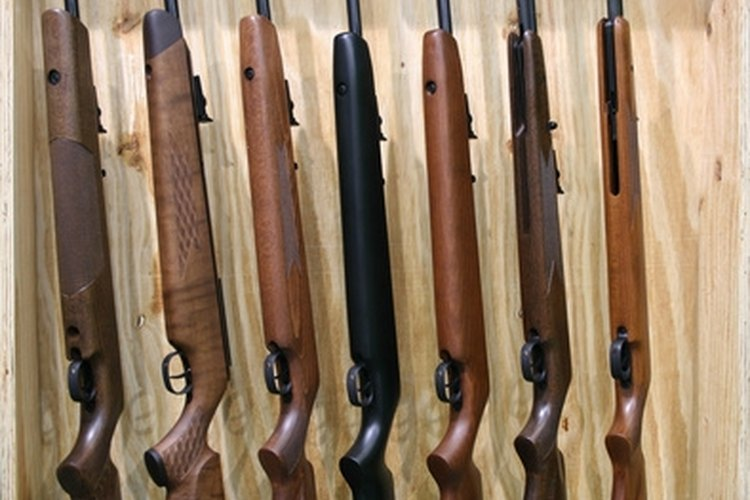 Collection of rifles