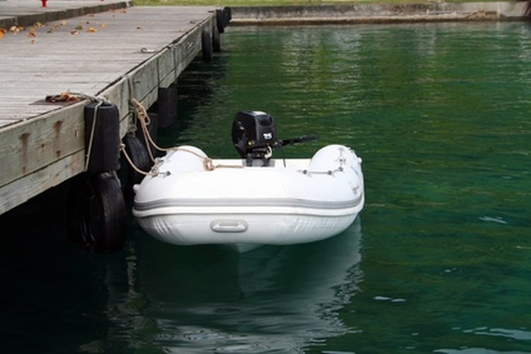 Johnson's 4-horsepower outboard engine is used for personal fishing boats or tenders.