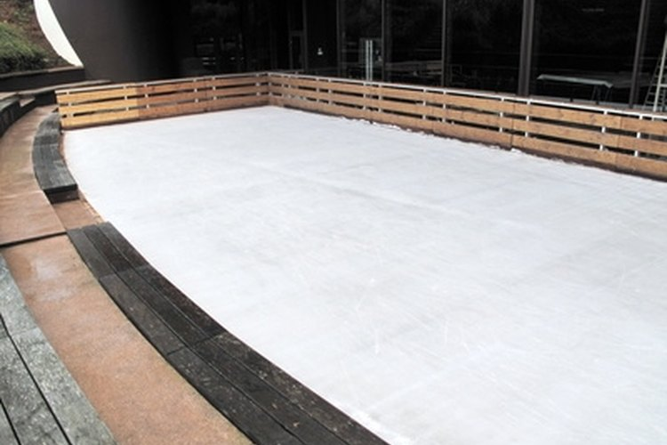 Building an ice rink over your swimming pool won't damage the pool.