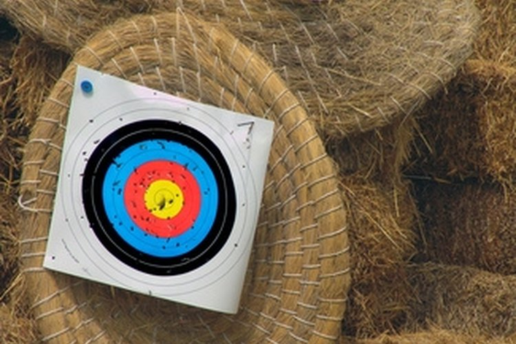 An archery target can be made easily and cheaply.