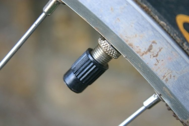 A tire's valve stem has a removable core that can be replaced cheaply and easily.