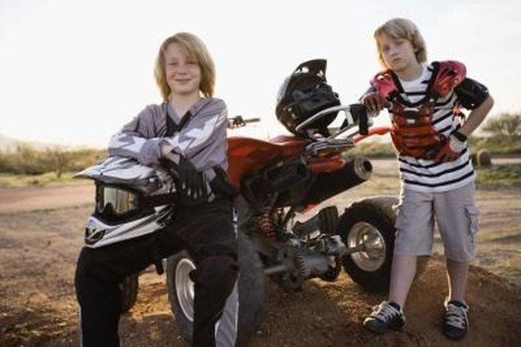 Children should not ride ATVs that are more powerful than they can easily control.
