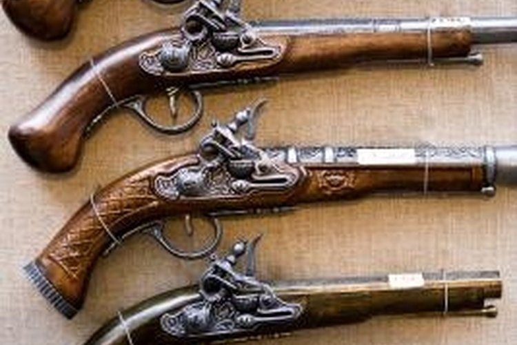 Antique guns, unlike newer models, aren't required to have serial numbers.