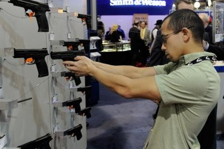 Both state and federal records are checked when purchasing a firearm.