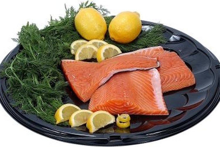 Salmon is high in omega fatty acids, which are healthy for the body.