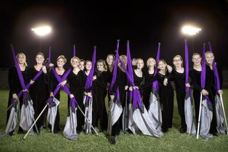 Spinning in a color guard requires learning some new skills, but it can be a rewarding experience.