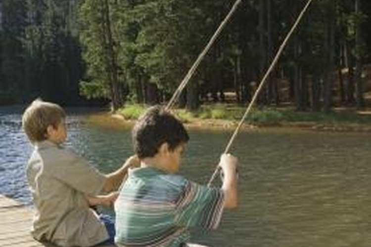 Novice fishermen often use push-button rods and reels.