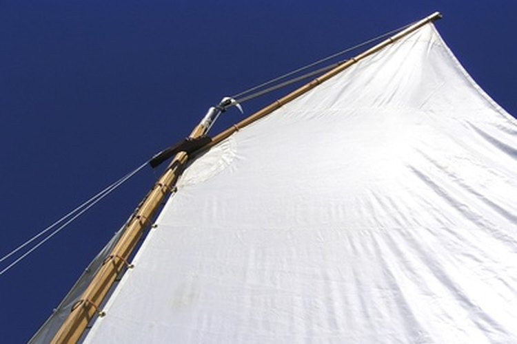 Heavyweight canvas is often used to manufacture sails.