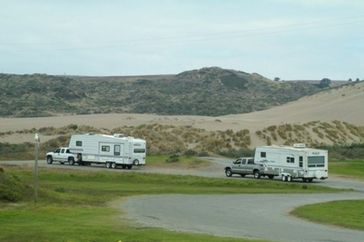 Fifth wheel trailers can be towed by half ton pickups.