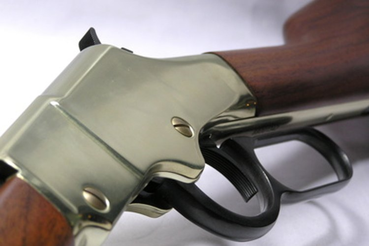 Lever-action rifles have a classic Wild West appearance.