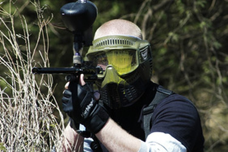 A paintball player