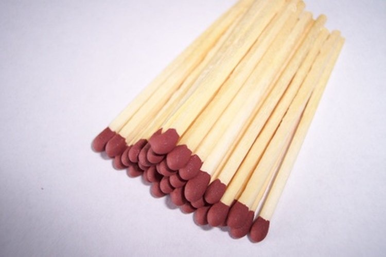 Matches can be used as a wood burning tool.