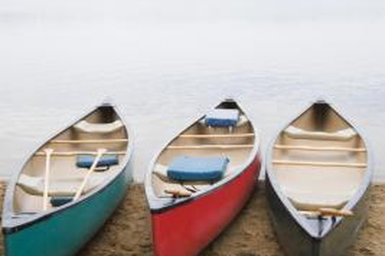 Canoes are ideal for touring the outdoors.