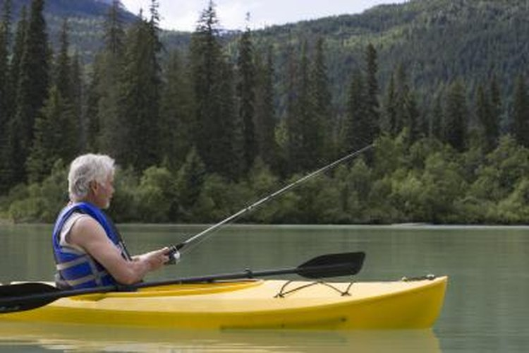 It's easy to secure a rope stringer to a kayak or other paddle boat.