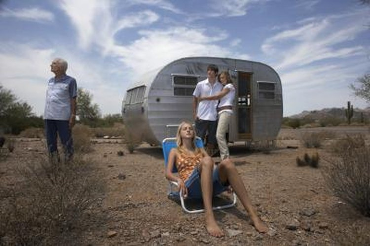A teardrop trailer makes it easier to go off road or fit the camper into tight spaces.