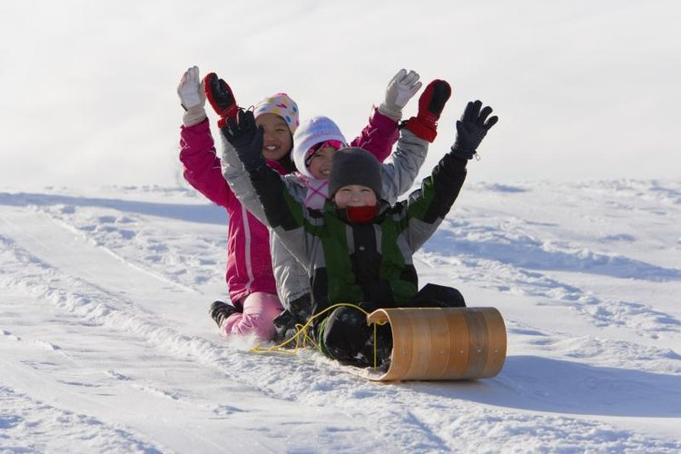 A toboggan can be used to transport cargo -- or just for fun.