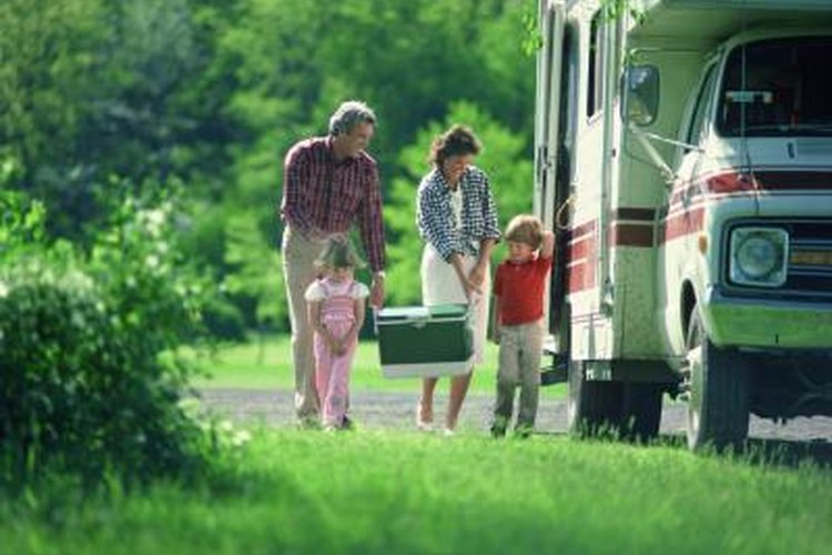 Campers and RV's generally have awnings for shade and light weather protection.