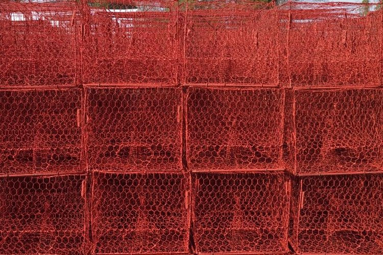 Crab pots typically weigh 600 to 800 pounds.