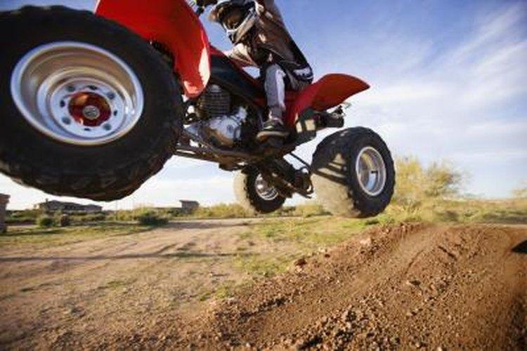 ATV in midair