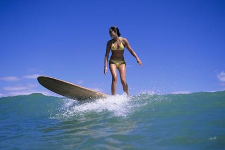A polished board is heavier and moves slower in the water.