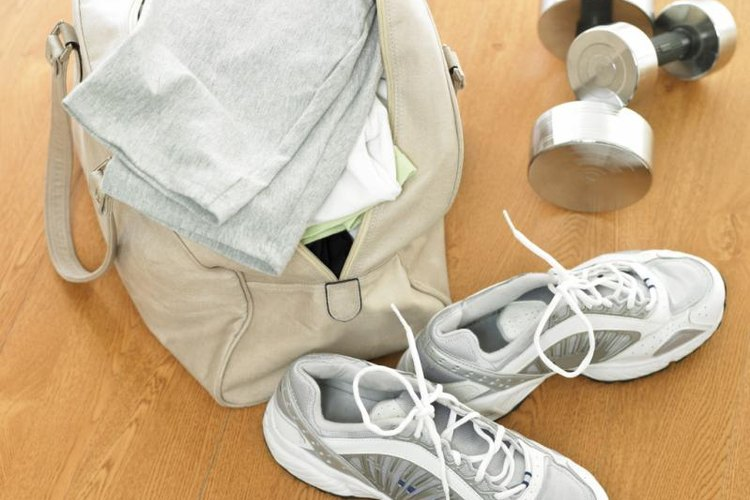 Keep your gym gear dry with a waterproof canvas bag.