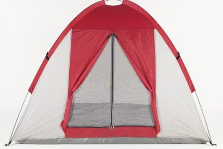 Domed tents are easier to set up with two people.