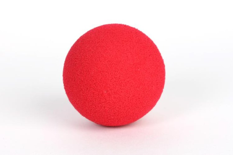 Gaga ball is played with a foam ball that resembles a kick ball.