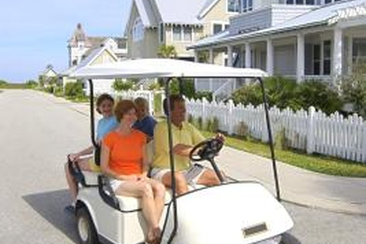 Replace headlights on your golf cart to increase safety.