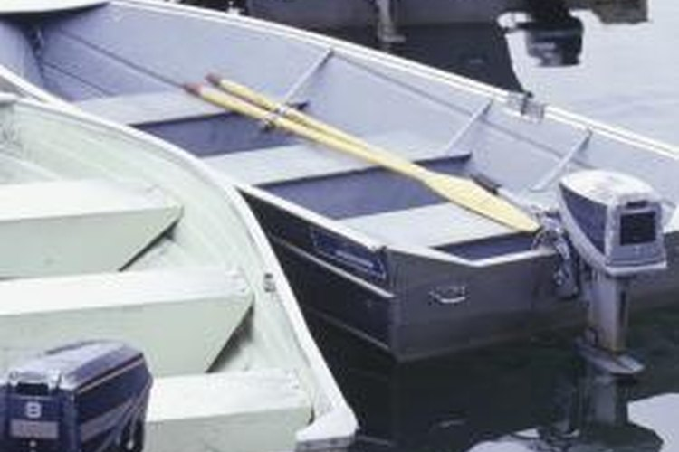 A boat engine should be checked for damage regularly.