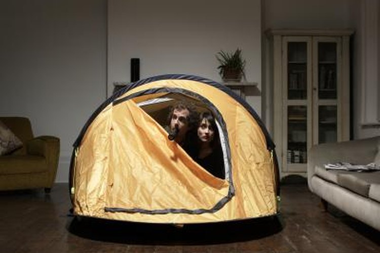 Its always wise to practice pitching your tent at home, before heading out into the wildnerness.