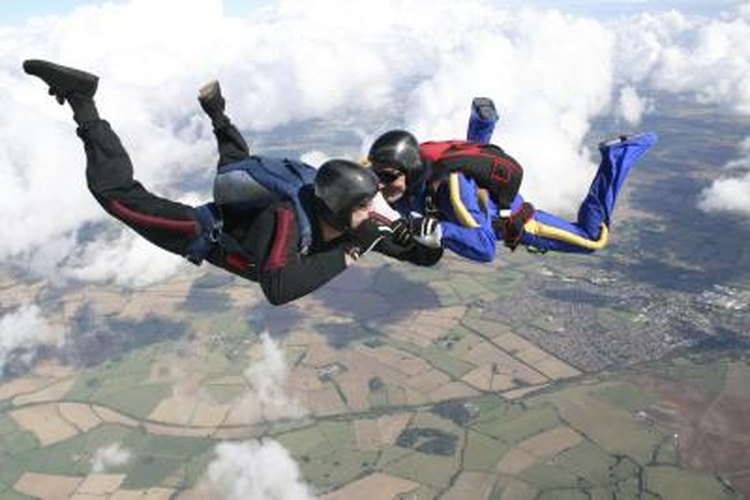 Many skydiving centers have jumpsuits you can rent for your jump.